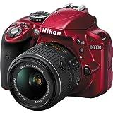 Nikon-D3300-Digital-SLR-Camera-18-55mm-G-VR-DX-II-AF-S-Zoom-Red-with-55-200mm-DX-AF-S-ED-Zoom-Nikkor-Lens