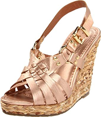 Corso Como Women's Diver Wedge Sandal, Rose Gold Paris, 6 M US
