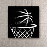ArtzFolio Basketball, vector Canvas Art Print with Frame - Size 13.7 inch x 13.7 inch
