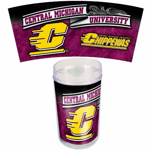 NCAA Central Michigan Chippewas 16-Ounce 4-Pack Tumblers