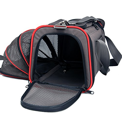 Petsfit 19x12x12 Inches Expandable Foldable Travel Dogs Carriers Pet Carrier Soft-sided