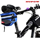 SUPOW(TM) Outdoor MTB Cycling Bicycle Tube Triangle Phone Bag Strap-On Saddle Bag Seat Bag Front Saddle Frame Pouch Pack Bike Accessory with Buckle-Blue