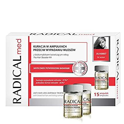 Anti-Hair Loss Treatment with Bioactive hair anchoring complex Pro-Hair Booster 4H For Women - 15 ampoules