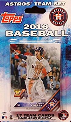 Houston Astros 2016 Topps Factory Sealed Special Edition 17 Card Team Set with George Springer and Carlor Correa Plus