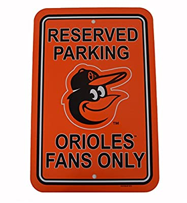 "Official Major League Baseball Fan Shop Authentic MLB Reserved Parking Sign. Stake Your Territory with Your Team Reserve Parking Sign. Great for the Office or Man Cave At Home. This MLB 12"" X 18"" Parking Sign Let's Everyone Know Who's Your Team."