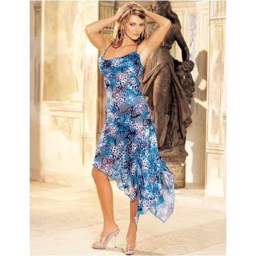 Sexy Dress: Sexy Girls in Animal Print Burnout Silk Long Gown, Whimsical and Bold