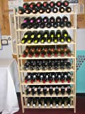 120 Bottle Rustic Wood Wine Rack