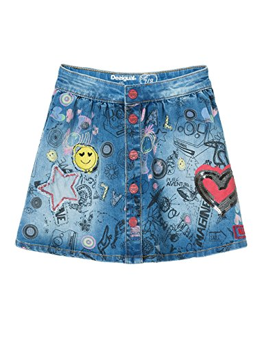 Desigual Mädchen Rock Fal_Aiguafreda, Blau (Jeans 5006), 128 (Herstellergröße: 7/8) thumbnail