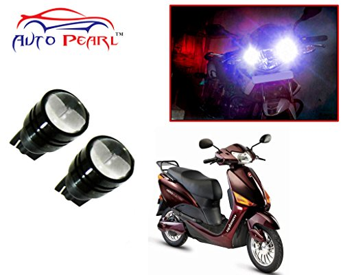 Auto Pearl - LED Parking Bulb Pilot Light / Daytime Running Lens Led Pilot Light 2 LED-Black (Blue Color) For - Hero Electric Optima Plus Burgundy  available at amazon for Rs.299