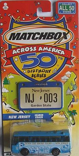 Matchbox Across America 50th Birthday Series New Jersey Ikarus Coach - 1