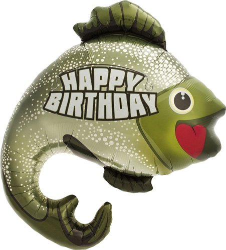 Birthday Bass Helium Foil Balloon - 32 inch