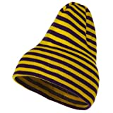 Trendy Striped Beanie - Yellow Purple
