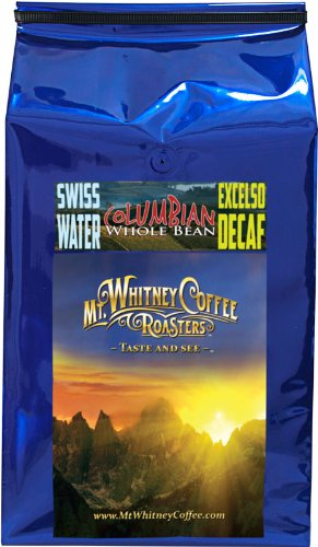 Mt. Whitney Coffee Roasters: 5 Lb, Swiss Water Process, Decaf Columbia Elxcelso , Medium Roast, Whole Bean Arabica Coffee