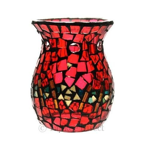 Yankee Candle Red and Gold Mosaic Tart Burner