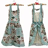 Hyzrz Hot Stylish Flower Pattern Women's Fashion Floral Cotton Chef Cooking Cook Apron Bib with Pockets 15#