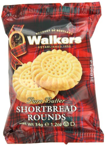 Walkers Shortbread Rounds (1.2-Ounce), 2-Count Cookies (Pack of 24)
