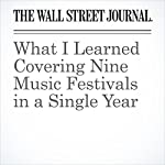 What I Learned Covering Nine Music Festivals in a Single Year | Jim Fusilli