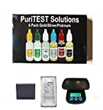 Puritest Platinum, Silver, Gold Testing Kit with Electronic Gram/Ounce Scale and Mini 5 Grains 999-fine Silver Bar Picture