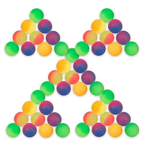 S/o® confezione da 50palline Frost 27mm Flummis spring ball palla da saltare Tombola il compleanno di bambini