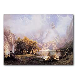 """View of the Rocky Mountains - 5"""" x 7"""" Museum Quality Greeting Card"""