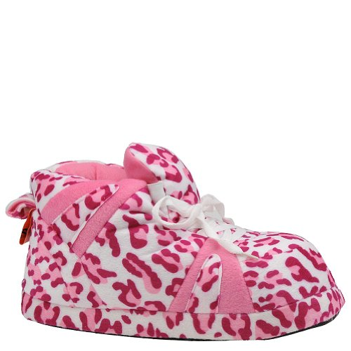 Happy Feet Women'S Snooki Slipper - S M - Pink-White front-513189