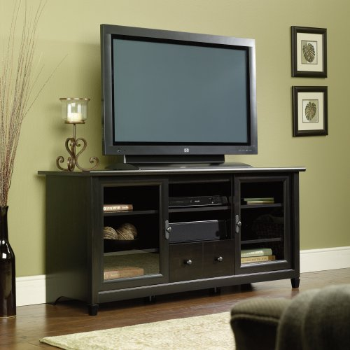 Sauder Edge Water Entertainment Credenza, Estate Black image