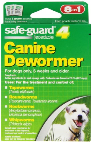 8 In 1 Safe Guard Canine DeWormer for S Dogs, 1-Gram