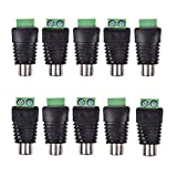 Bluecell 10pcs UTP Cat5/Cat6 Cable to AV RCA Female Screw Terminal Connector