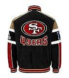 NFL San Francisco 49ers Officially Licensed Suede Varsity Jacket ~ Large