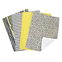 Trend Lab Burp Cloth Set, Hello Sunshine, 4-Count