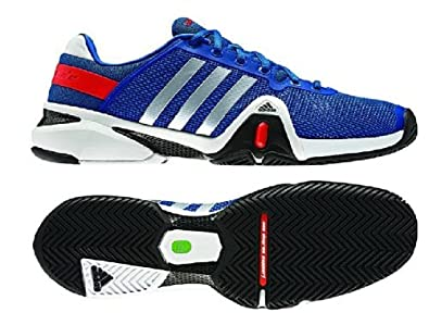 Buy Adidas Mens Adipower Barricade 8 Tennis Shoe-Blue Beauty Metallic Silver Hi-Res Red by adidas