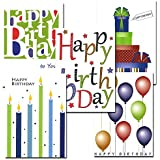 Birthday Note Card Assortment - box of 30 cards & 32 envelopes