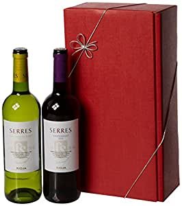 Le Bon Vin Carlos Serres Rioja Twin Wine Gift Set, 2013/2014, 75 cl (Case of 2)