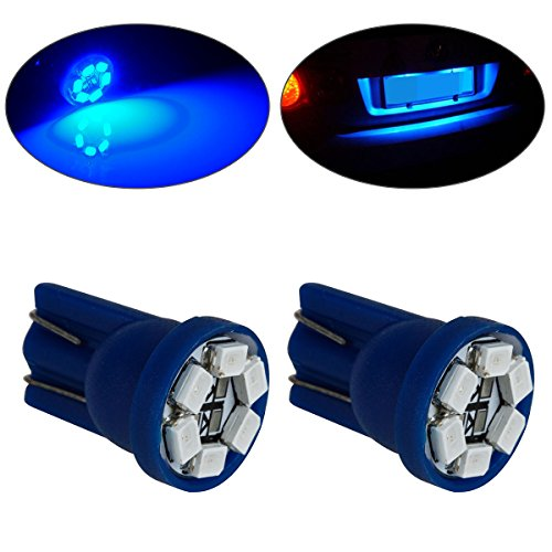 Partsam 2x Blue T10 SMD License Plate/ Interior Light Bulbs 6-LED For 2002-2012 Jeep Liberty (Pontiac G8 Lights compare prices)