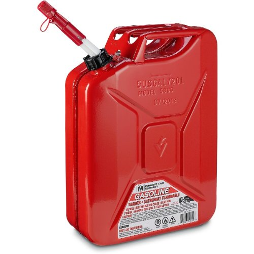 """Midwest 5 Gallon Metal """"Jerry"""" Gas Can 044549317106 ..."""