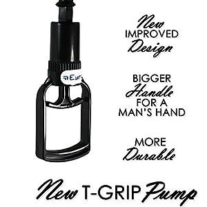LeLuv EasyOp T-Grip BETTER Basic One-Handed Erectile Dysfunction Vacuum Pump
