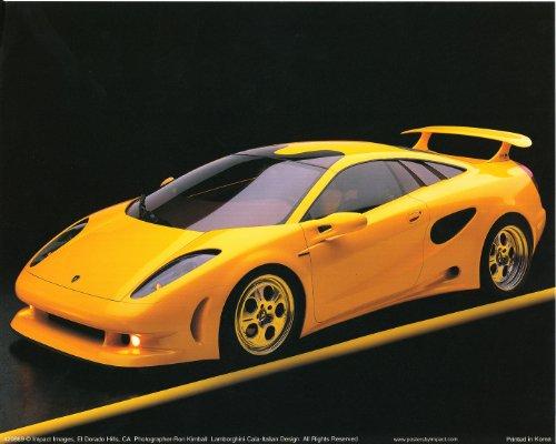 Yellow Lamborghini Cala-Italian