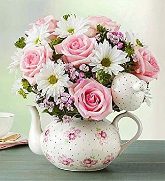 Amazon.com : 1-800-Flowers - Teapot Full Of Blooms - Large ...