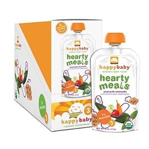 (辅食)禧贝Happy Baby Organic Baby Food婴幼儿3段有机苋菜混合蔬菜泥16包SS后$19.55