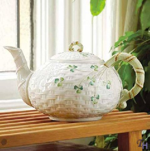 Belleek Shamrock Teapot Best Deals