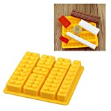 Gwogo® Building Brick Silicone Ice Cube Tray Candy Chocolate Mold - for Lego Lovers (5 Pcs)
