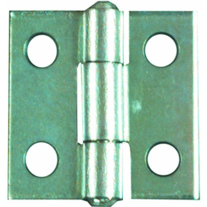 National Hardware V518 1-Inch Zinc Plated Non-Removable Pin Hinge front-1079410