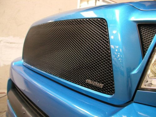 2005 - 2009 Toyota Tacoma Upper Mesh Grill Insert In Black From Grillcraft TOY-1946B