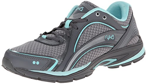 RYKA Women's Sky Walking Shoe, Frost Grey/Aqua Sky/Iron Grey, 9 M US