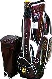 VIVA HEART ビバハートゴルフ キャディバッグ VHC015 ボルドー/ブラック 9.0型 47インチ対応