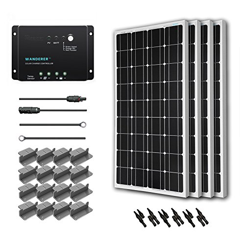 Renogy 400 Watt 12 Volt Monocrystalline Solar Starter Kit with Wanderer (Starter Solar Panel Kit compare prices)