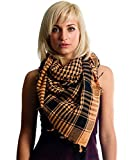 Anuze Fashions New Styles Scarves Arab Shemagh Arafat Scarf For Women's And Girl's (DCAMEL-BROWN-CCAELL0479)