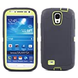 Brand NEW Case Cover with Belt Clip for I9500 Samsung Galaxy S4 (Gray /Green)