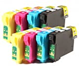8 Epson Compatible Printer Ink Cartridges for Epson Stylus S22, SX125, SX130 Epson Stylus Office BX305F Printers, 2x T1281, 2x T1282, 2x T1283, 2x T1284