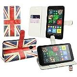 Emartbuy® Microsoft Lumia 640 XL LTE / Lumia 640 XL LTE Dual Sim PU Pelle Supporto Pieghevole Wallet Custodia Case Cover Union Jack con Scomparti per Carte di Credito